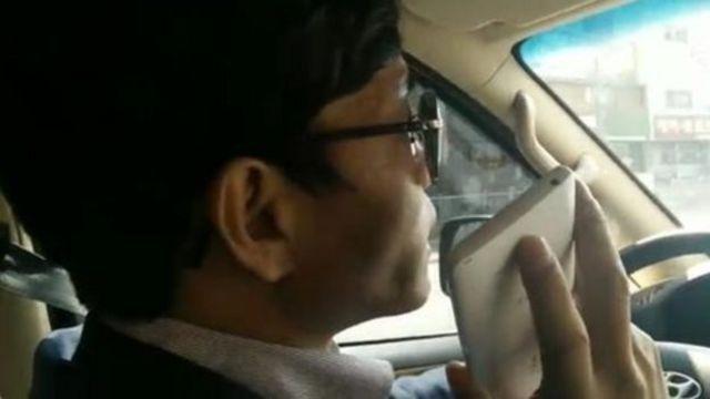 在韓國的司機接通朝鮮打來的電話