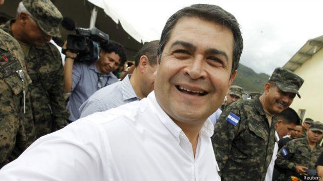 Hernández es presidente de Honduras desde el 27 de enero de 2014.