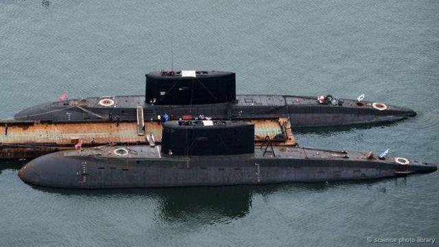 核潛艇服役期滿後,其中部分的船體仍有危險的放射性(供稿:科學圖片庫)