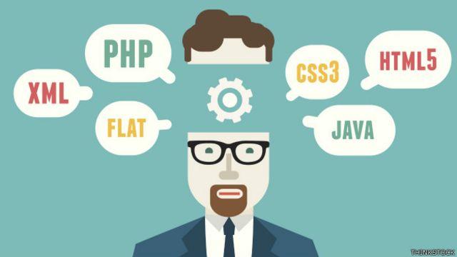 Ilustración de aprendizaje de programación
