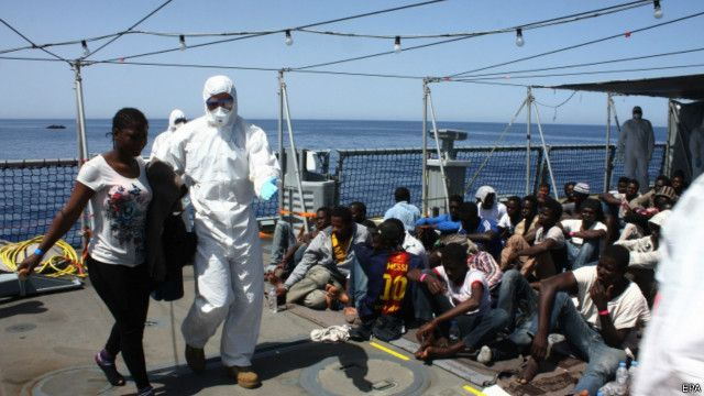 مهاجرين أفارقة إلى أوروبا