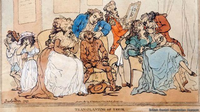 Esta caricatura de 1787 ironizaba sobre el tema.