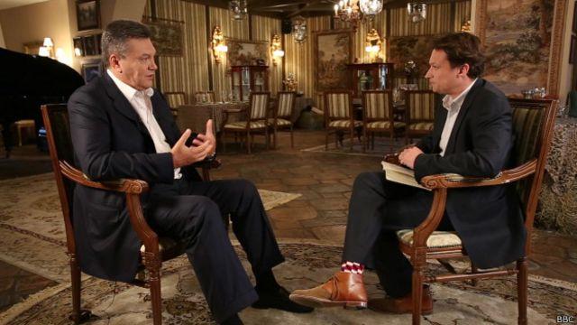 Виктор Янукович прервал молчание и дал первое интервью западному СМИ - Би-би-си