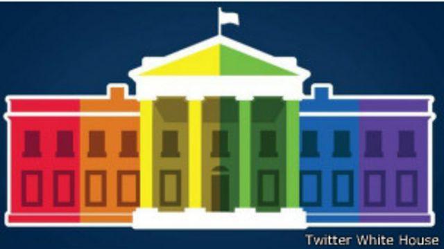 La Casa Blanca tiñó su avatar con los colores del arcoiris.