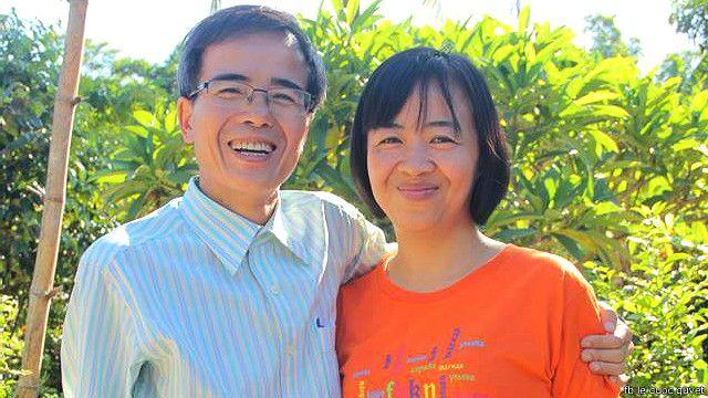 Luật sư Lê Quốc Quân ra tù và đoàn tụ với gia đình hôm 27/6/2015.