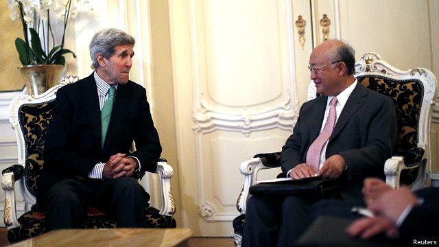 وزیر امور خارجه آمریکا امروز دوشنبه با مدیرکل آژانس بینالمللی انرژی اتمی دیدار کرد