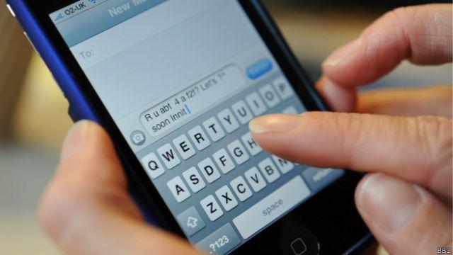 СМС-сообщение на телефоне