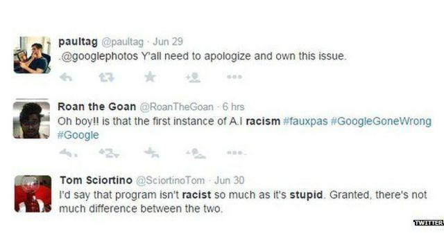 Varios usuarios de las redes tildaron a la app de racista.
