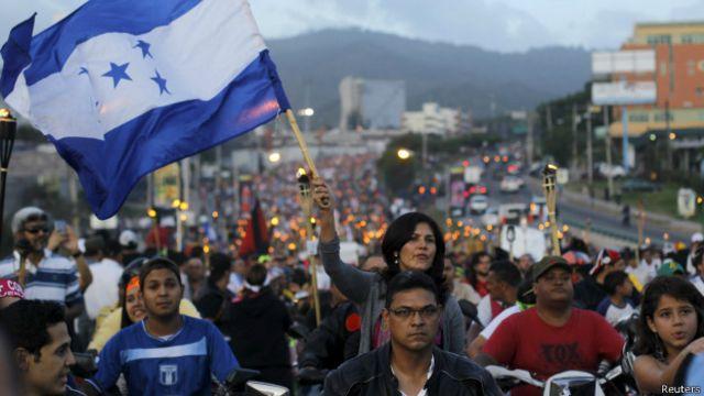 Marcha contra la corrupción en Honduras