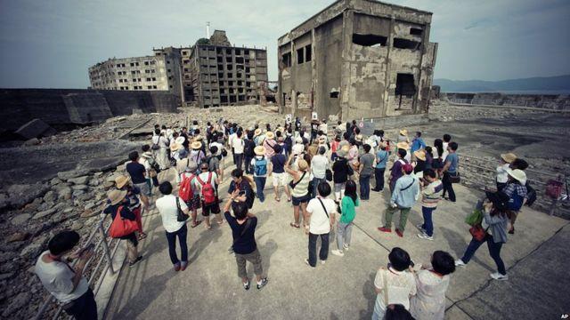 حصن جزيرة غونكانجيما، الواقع على مشارف نغازاكي جنوبي اليابان، يعد رمزا للثورة الصناعية في البلاد في القرن التاسع عشر.