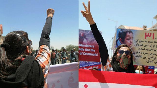 بیشتر شرکتکنندگان تظاهرات امروز زنان بودند