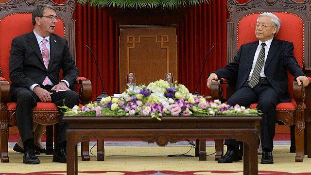 Ông Trọng, người mới tiếp Bộ trưởng Quốc phòng Hoa Kỳ Ashton Carter hồi tháng Sáu, sẽ vào Nhà Trắng hôm 7/7