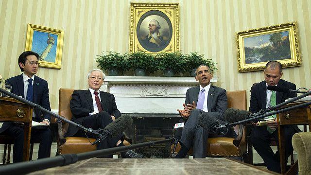 Đây là chuyến thăm đầu tiên trong lịch sử của một Tổng bí thư Đảng CSVN tới Nhà trắng.