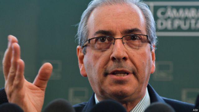 Presidente de la cámara brasileña de Diputados, Eduardo Cunha.