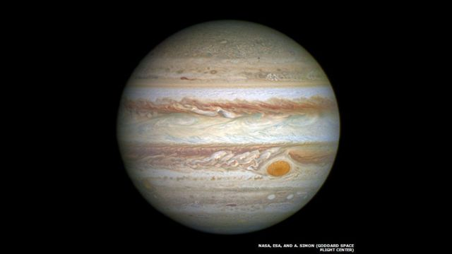 Jupiter. NASA, ESA, and A. Simon