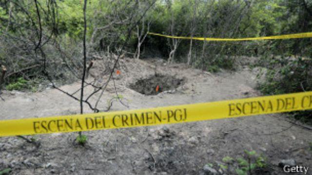 Fosa común en Iguala