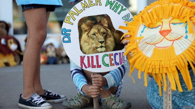 Protesta por la muerte de Cecil, el león