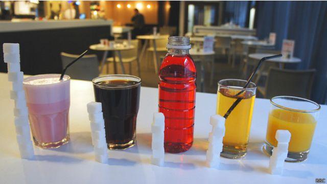 Contenido de azúcar en bebidas comunes