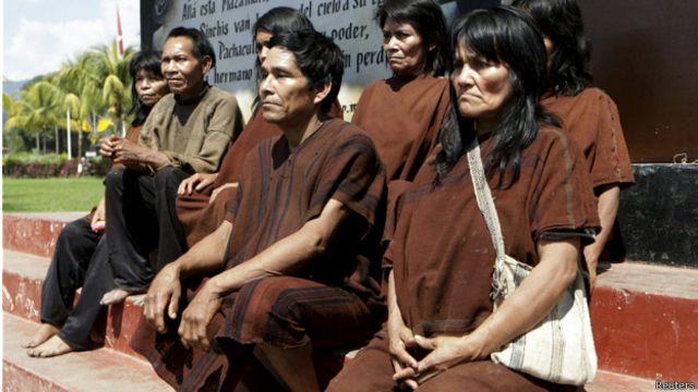 Varias de las personas esclavizadas durante años por Sendero Luminoso en la selva.
