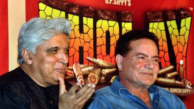 جواد اختر و سلیم خان نویسندگان شعله