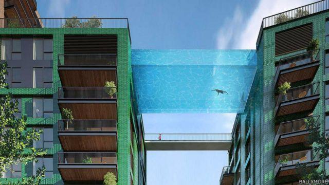 """Berenang di kolam ini akan terasa seperti """"mengambang di udara di pusat London"""""""