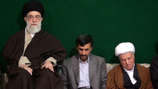 رهبر ایران به ویژه در دوره اول ریاست جمهوری محمود احمدینژاد، مهمترین حامی او بود
