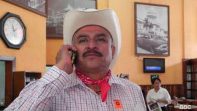 Tomás Rojo, vocero de la tribu Yaqui.