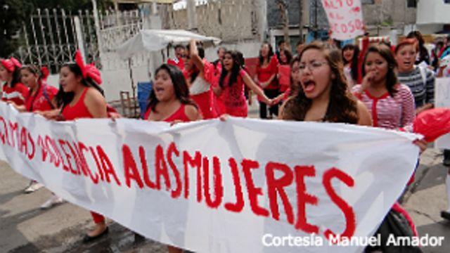 Marcha contra el feminicidio en Ecatepec