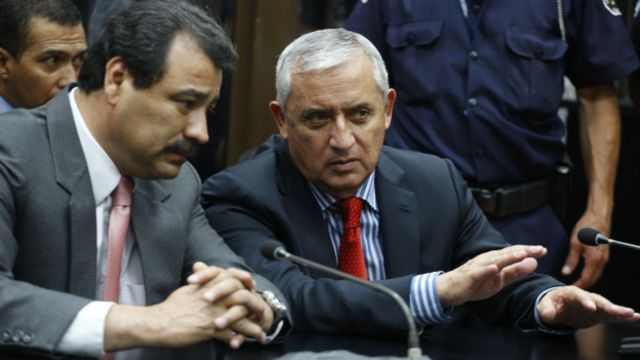 Pérez Molina se presentó este jueves ante los tribunales.
