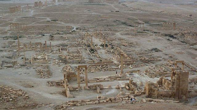 خرابه های شهر باستانی پالمیرا یکی از برجسته ترین آثار باستانی خاورمیانه است