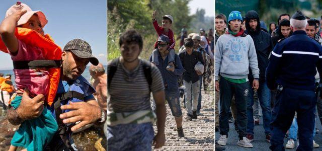 Alemanha continua a ser destino mais popular para refugiados   Fotos: AP/Reuters/EPA