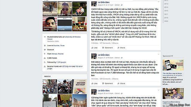 Một vài bình luận trên trang Facebook cá nhân của ông Lê Diễn Đức.