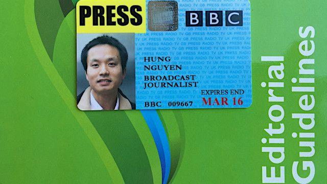 Thẻ nhà báo ở Anh do một tổ chức tình nguyện, không liên quan tới chính quyền, cấp