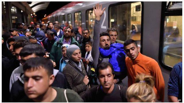 Sebagian besar pengungsi memilih Jerman sebagai tujuan akhir mereka.