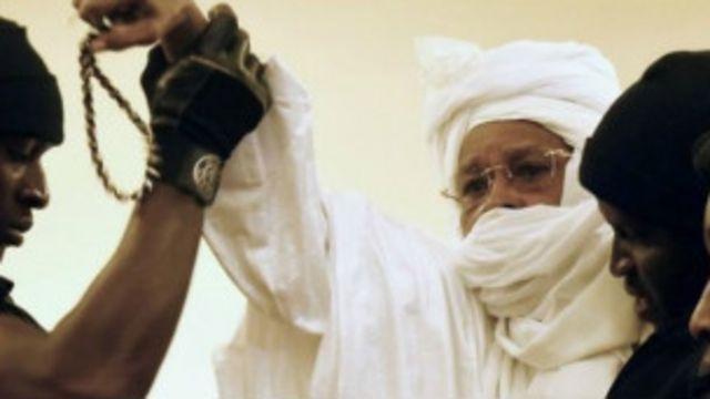 Hissène Habré lors de son procès devant les Chambres africaines extraordinaires