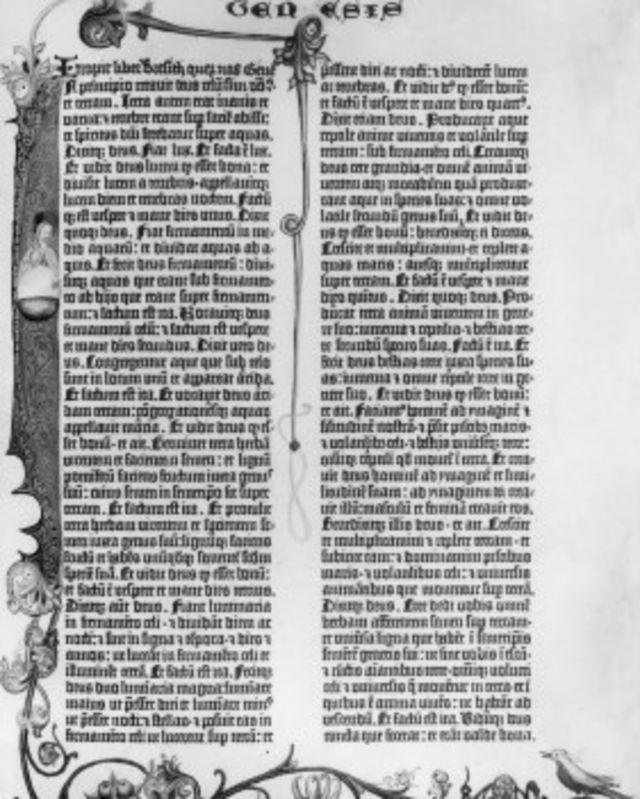 Una biblia del siglo XV