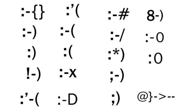 Símbolos creados con signos de puntuación