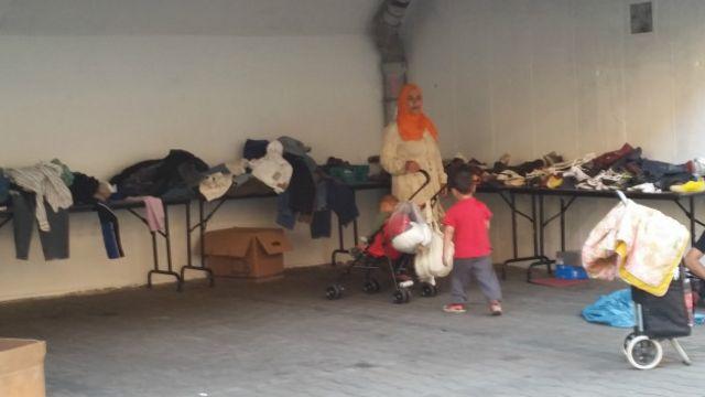 В центре для беженцев