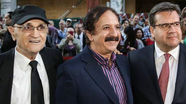 از راست: دنی کودر، شهردار مونترال، مجید مجیدی و سرژ لوزیک، مدیر جشنواره