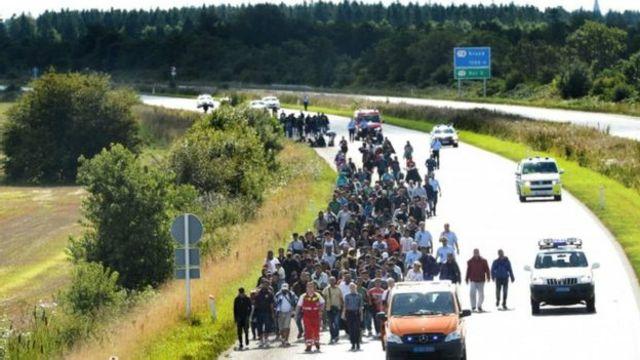 Bir qrup miqrant Almaniyadan Danimarkaya keçərək avtomobil magistralının bağlanmasına səbəb olub