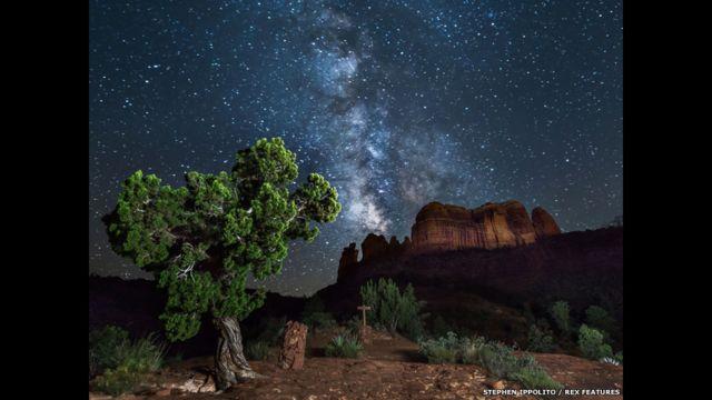 İppolito-nun digər şəkilləri arasında Amerikanın müxtəlif bölgələrində çəkilmiş kəhkəşan görüntüləri də var. Bu fotoşəkil Arizonada, Cathedral Qayalığında çəkilib.