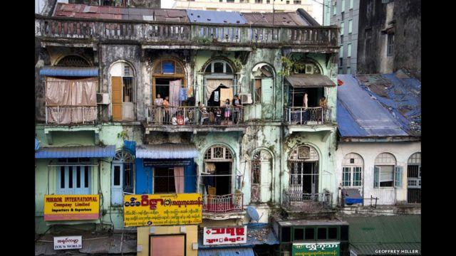 Kota tua Yangon, 2012