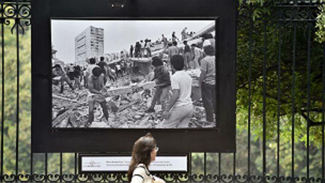 Exposición de fotografías del terremoto de 1985 en Ciudad de México