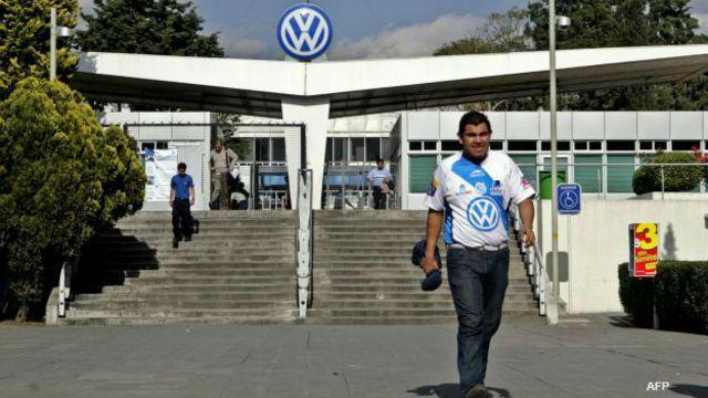 Planta armadora de Volkswagen en México.