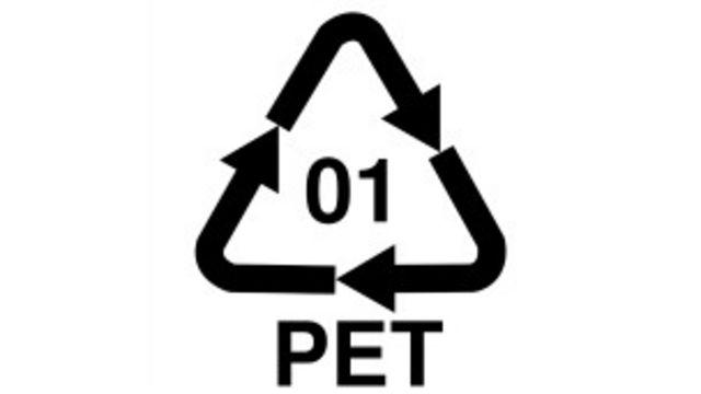 Símbolo del plástico PET