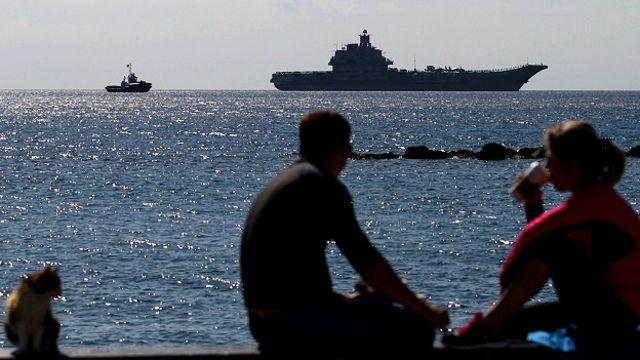 Российский военный корабль у берегов Кипра