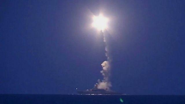 Ночной удар российских крылатых ракет по Сирии