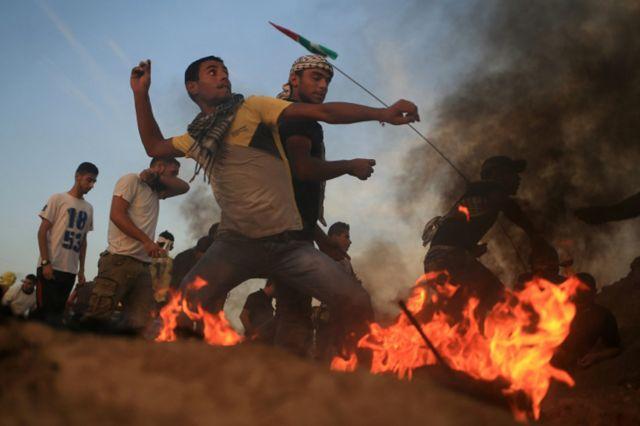 Enfrentamientos entre palestinos y fuerzas de seguridad israelíes
