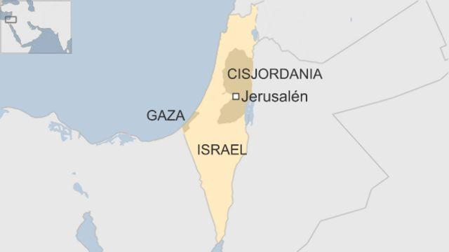 Mapa de los territorios palestinos