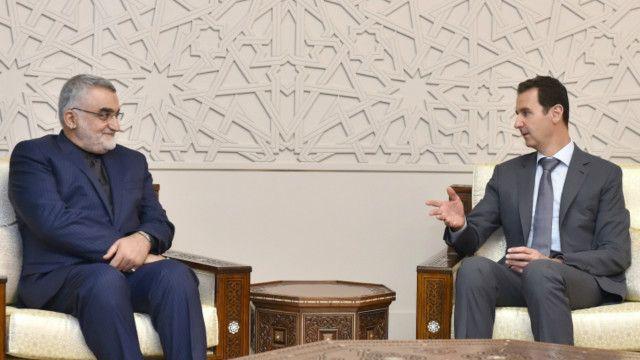 علاءالدین بروجردی صبح پنجشنبه با بشار اسد دیدار کرده است